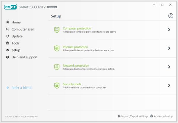 Tính năng phần mềm eset smart security