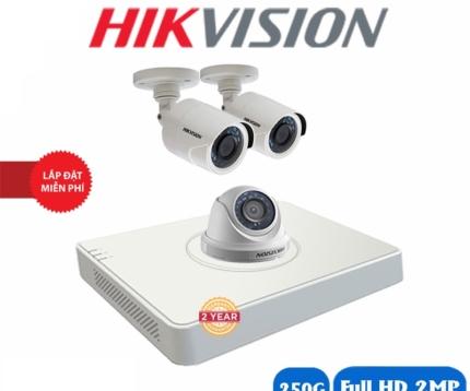 Trọn bộ camera hikvision 2 mắt full hd 2.0m