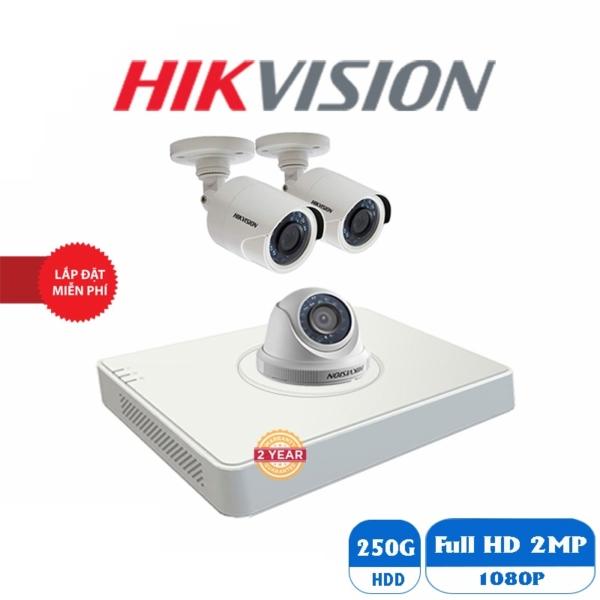 Trọn bộ camera hikvision 3 mắt hd 1.0m