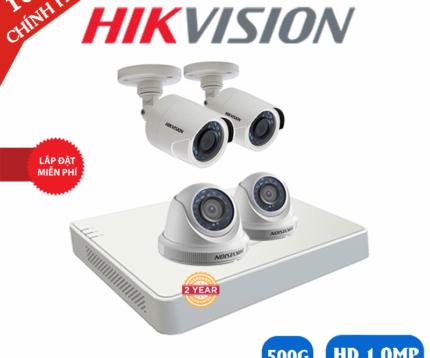Trọn bộ camera hikvision 4 mắt full hd 2.0m